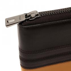 Tod's Two Tone Leather Zip Around Wallet