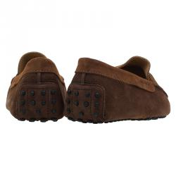Tod's Brown Shaded Suede Penny Loafers Size 43.5