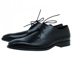 Tod's Black Leather Lace Up Derby Size 46