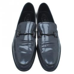 Tod's Grey Patent Loafers Size 45
