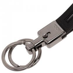Tod's Black Leather Valet Keyring