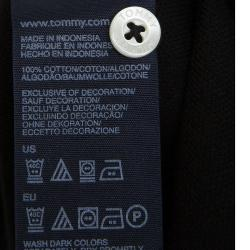 Tommy Hilfiger Black Short Sleeve Polo T-Shirt S