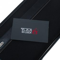 Tumi Black Leather and Canvas Large Zip Around Travel Wallet