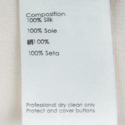 3.1 Phillip Lim Cream Silk Long Sleeve Blouse S