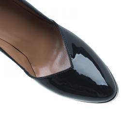 Azzedine Alaia Black Patent Almond Toe Pumps Size 36.5