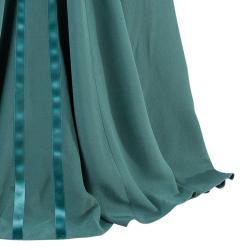 Alberta Ferretti Green Embellished Bustier Evening Gown M