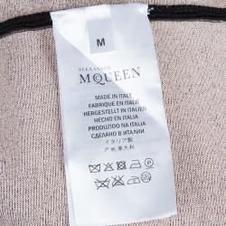 Alexander McQueen Black Knit Long Sleeve Dress M