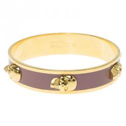 Alexander McQueen 3D Skull Pink Bangle Bracelet Size 20