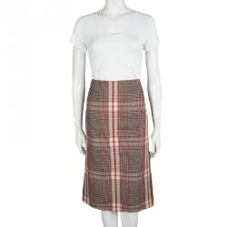 Alexander McQueen Multicolor Plaid High Waist Skirt M
