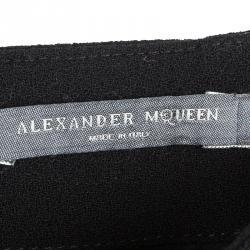 Alexander McQueen Black Wool Pencil Skirt M