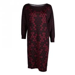 Alexander McQueen Red Honeycomb Print Silk Jersey Bodycon Dress M