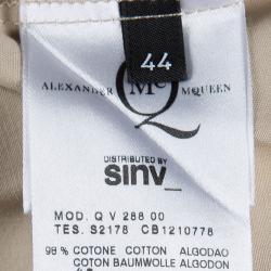 Alexander McQueen Beige Cotton Sleeveless Dress M