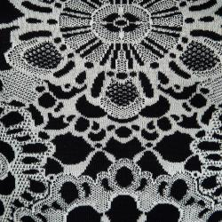 Alexander McQueen Monochrome Floral Jacquard Knit Sleeveless Bodycon Dress XS