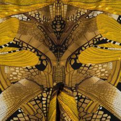 Alexander Mcqueen Multicolor Dragonfly Print Leggings S