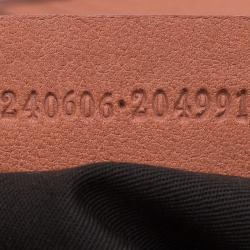 Alexander McQueen Orange Leather Medium Faithful De Manta Clutch