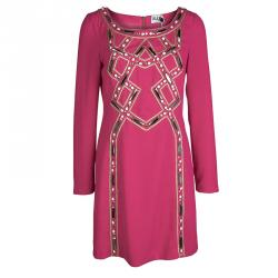Alice By Temperly Pink Embellished Francoise Shift Dress M