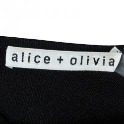 Alice+Olivia Pire Black Crop Top S