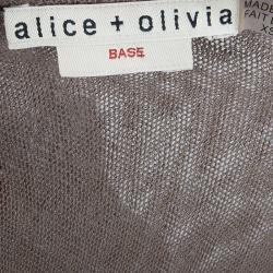 Alice + Olivia Base rown Smocked-Waist Dress XS