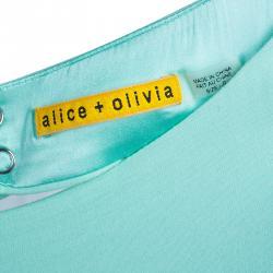 Alice + Olivia Spelling Side-Peplum Mint Sleeveless Dress XS