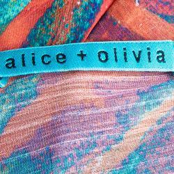 Alice + Olivia Multicolor Print Cardigan XS