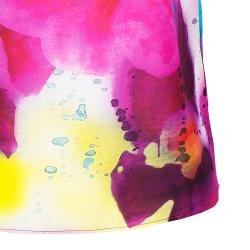 Alice + Olivia Sonya Watercolor Flower Print Top XS
