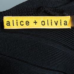 Alice + Olivia Black Bandage Dress M