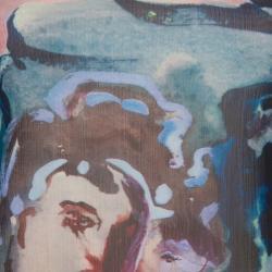 Alice + Olivia Multicolor Digital Print Cutout Back Detail Sleeveless Dress XS