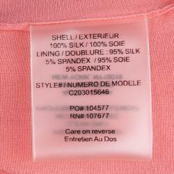 Alice + Olivia Pink Silk Gathered Sleeveless Top XS