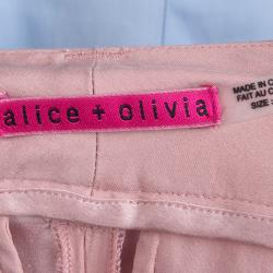 Alice + Olivia Pale Pink Silk Trousers XS
