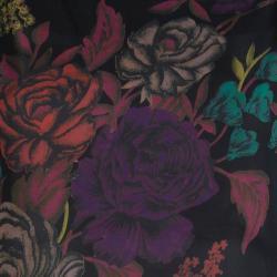 بلوزة أليس + أوليفيا سوداء موردة بأكمام طويلة شفافة M