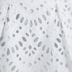 تنورة آليس + أوليفيا بيضاء حافة مموجة بطيات S