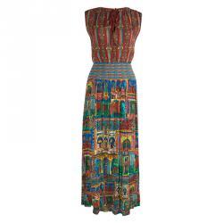 فستان ماكسي آليس + أوليفيا مطبوع متعدد الألوان مطرز S
