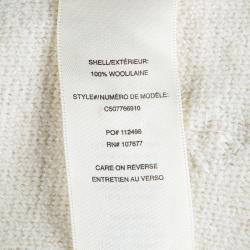 بلوفر آليس + أوليفيا أوف وايت صوف أحجار راين مزخرفة قصير S