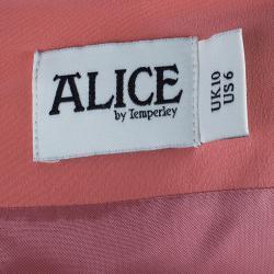 فستان أليس باي تيمبرلي وردي مزخرف بدون أكمام M