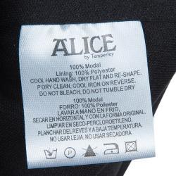 Alice by Temperley Black Long Sleeve Dress S