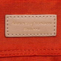 Aspinal of London Beige Leather Berkeley Satchel