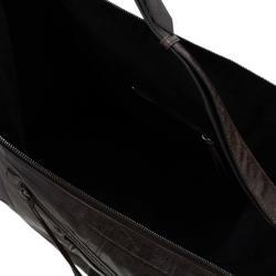 Balenciaga Brown Leather Jumbo Cruise Hobo