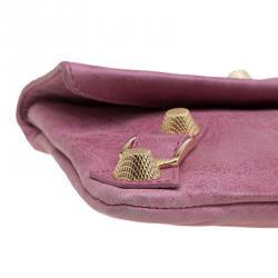 Balenciaga Bubblegum Pink Leather GGH Envelope Clutch