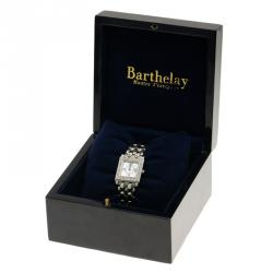 Barthelay Mother of Pearl Stainless Steel Diamonds Les Sloanes Women's Wristwatch 24MM