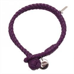 Bottega Veneta Intrecciato Nappa Purple Leather Bracelet