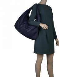 Bottega Veneta Purple Intrecciato Leather Maxi Pleated Veneta Hobo Bag 894cf28c7e71f
