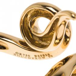 خاتم ثعبان بوشيرون مزدوج ذهب أصفر مقاس 50