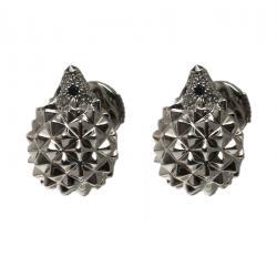 Boucheron Hedgehog Diamond 18k White Gold Stud Earrings