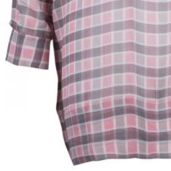 Burberry Brit Pink Check Oversize Top S