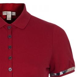 Burberry Brit Red Polo Shirt S