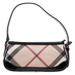 2b7ccf1072e Burberry Beige Nova Check Coated Canvas Small Newbury Sling Bag