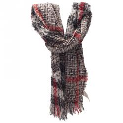 Burberry Tricolor Wool And Polyester Blend Stole