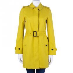 Burberry Chartreuse Yellow Bondedcotton Trenchcoat XS