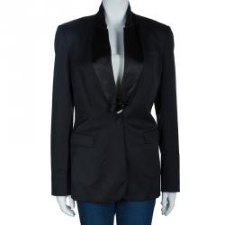 Burberry Prorsum Black Tailored Blazer L