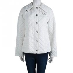 Burberry Brit White Diamond Quilted Jacket L